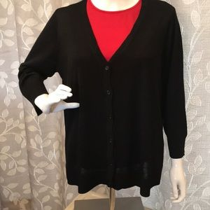 Christopher & Banks Black Dressy Cardigan